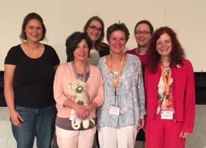 Der Vorstand: Corinna Plachta, Katja Beyer, Tanja Niggemeyer, Angelika Drensler, Yvonne Lambach, Gabriele Rummel (v.l.)